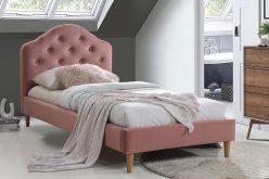 CHLOE 90 VELVET - łóżko tapicerowane - 2 KOLORY 3