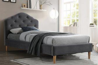 CHLOE 90 VELVET - łóżko tapicerowane - 2 KOLORY 5