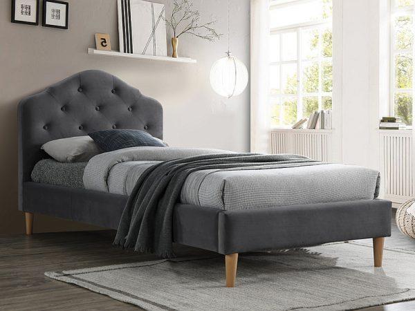 CHLOE 90 VELVET - łóżko tapicerowane - 2 KOLORY 1