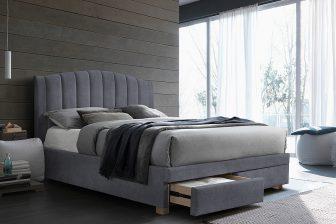 EMOTION 160 - łóżko tapicerowane z szufladami szare 8