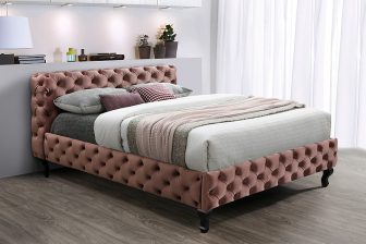 HERRERA160 - łóżko tapicerowane pikowane chesterfield - KOLORY 9