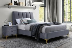 MIRAGE 90 VELVET - łóżko tapicerowane - kolory 4