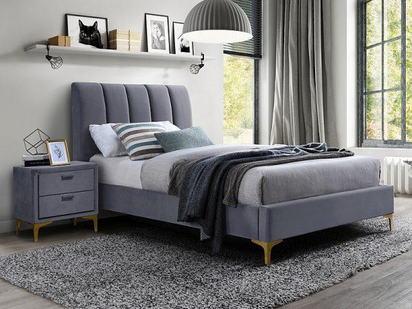 MIRAGE 90 VELVET - łóżko tapicerowane - kolory 1