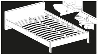 PADVA 120 - łóżko tapicerowane z pojemnikiem 2