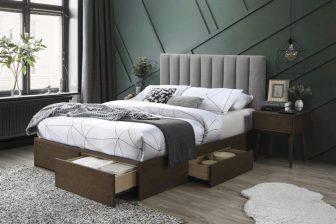GORASHI 160 - łóżko tapicerowane z szufladami 28