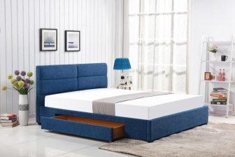 MERIDA 160 - łóżko tapicerowane z szufladą - 3 KOLORY 31