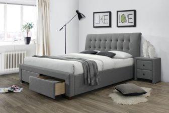 PERCY 160 - łóżko tapicerowane z szufladami 34