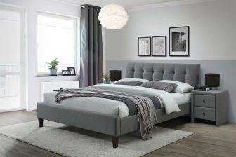 SAMARA II 160 - łóżko tapicerowane szare 61