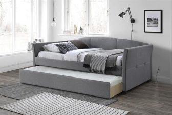 SANNY - łóżko dwuosobowe tapicerowane z szufladą 126