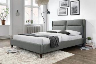 SANTINO 160 - łóżko tapicerowane szare 62
