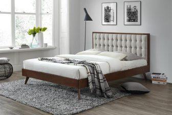 SOLOMO 160 - łóżko tapicerowane szare 63