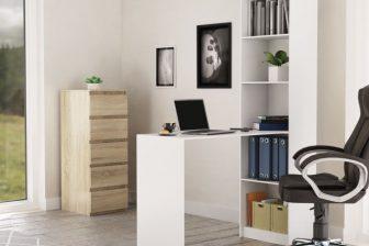 VIRAL - biurko z regałem 9