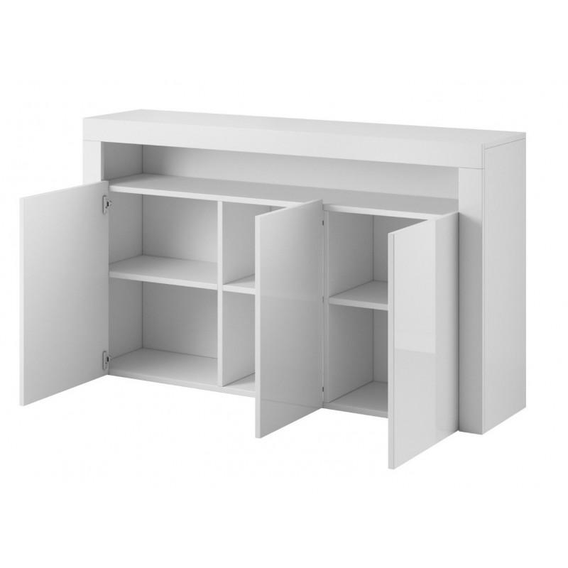 DECORAL 3D - komoda z drzwiczkami w połysku 3